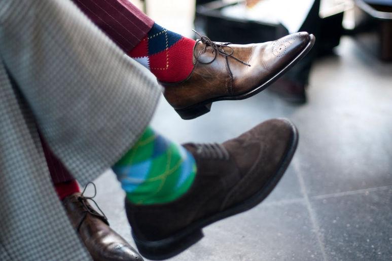 Правильная высота носков определяется опытным путем