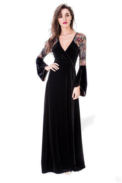 7f910b211f5 Купить Вечернее платье Виолла из бархата и кружева в Санкт ...