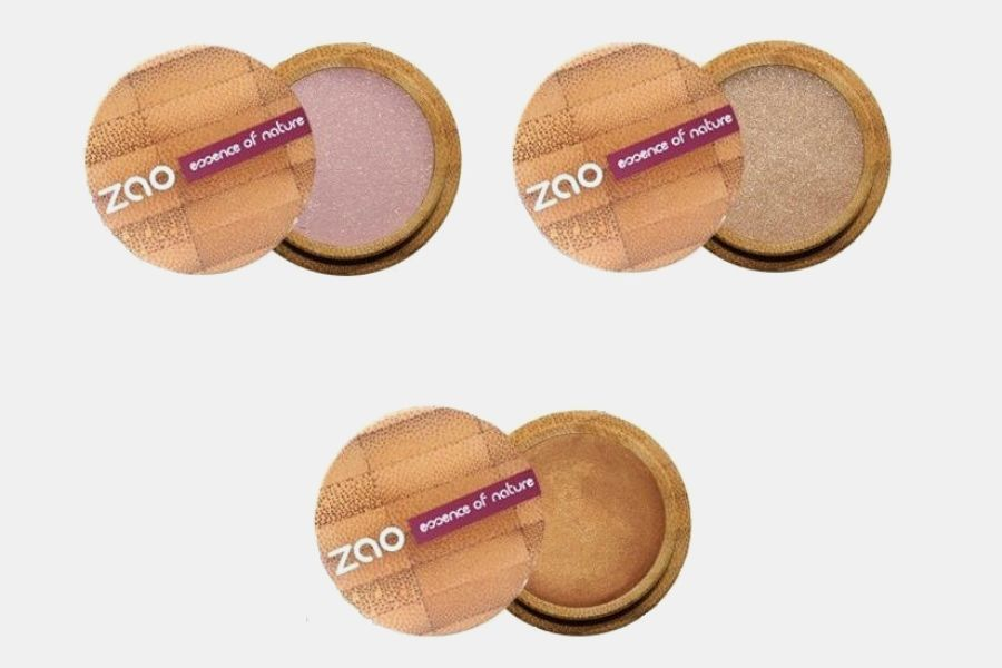 Тени для век ZAO в магазине BIOZKA, оттенки «розово-бежевый жемчуг», «золотой песок», «золотистая бронза», цена: от 2 157 руб.